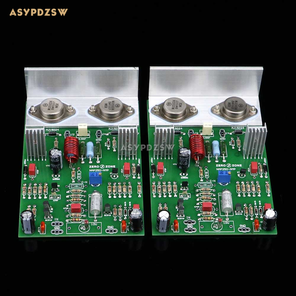 2PCS Assembeld NCC200 Power amplifier board base on UK NAIM NAP250/135 amplifier 80W+80W finished 2 0 channel ncc200 power amplifier board base on uk naim nap250 135 amp