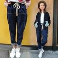 5xl plus size denim calça jeans calcinha mulheres primavera outono 2016 feminina harajuku fina cintura elástica calças soltas haroun calças femininas A1620