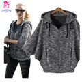 European And American Fashion Ladies Seven  Batwing Sleeve Coat Bat Shirt Autumn Hooded Jacket Explosion  Coat 947