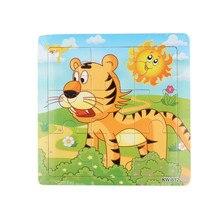 Мода Деревянный Тигр Головоломки Игрушки Для Детей Образование И Обучение Головоломки Игрушки Бесплатная Доставка