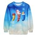 Women Long Sleeve Pullover Sweatshirt Christmas Santa Claus Print Jumper Hip Hop Hoodies for Women