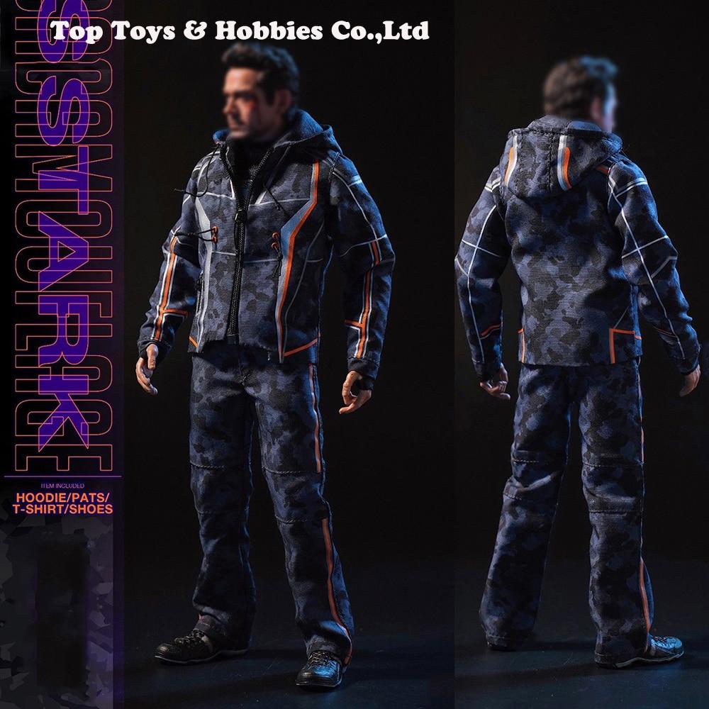 Pre Sale Custom SUPERMCToys (F-080) Tony Nano Battle Casual Clothes Suit  Avengers  F 12 Inches TTM21 Body Male Action Figures