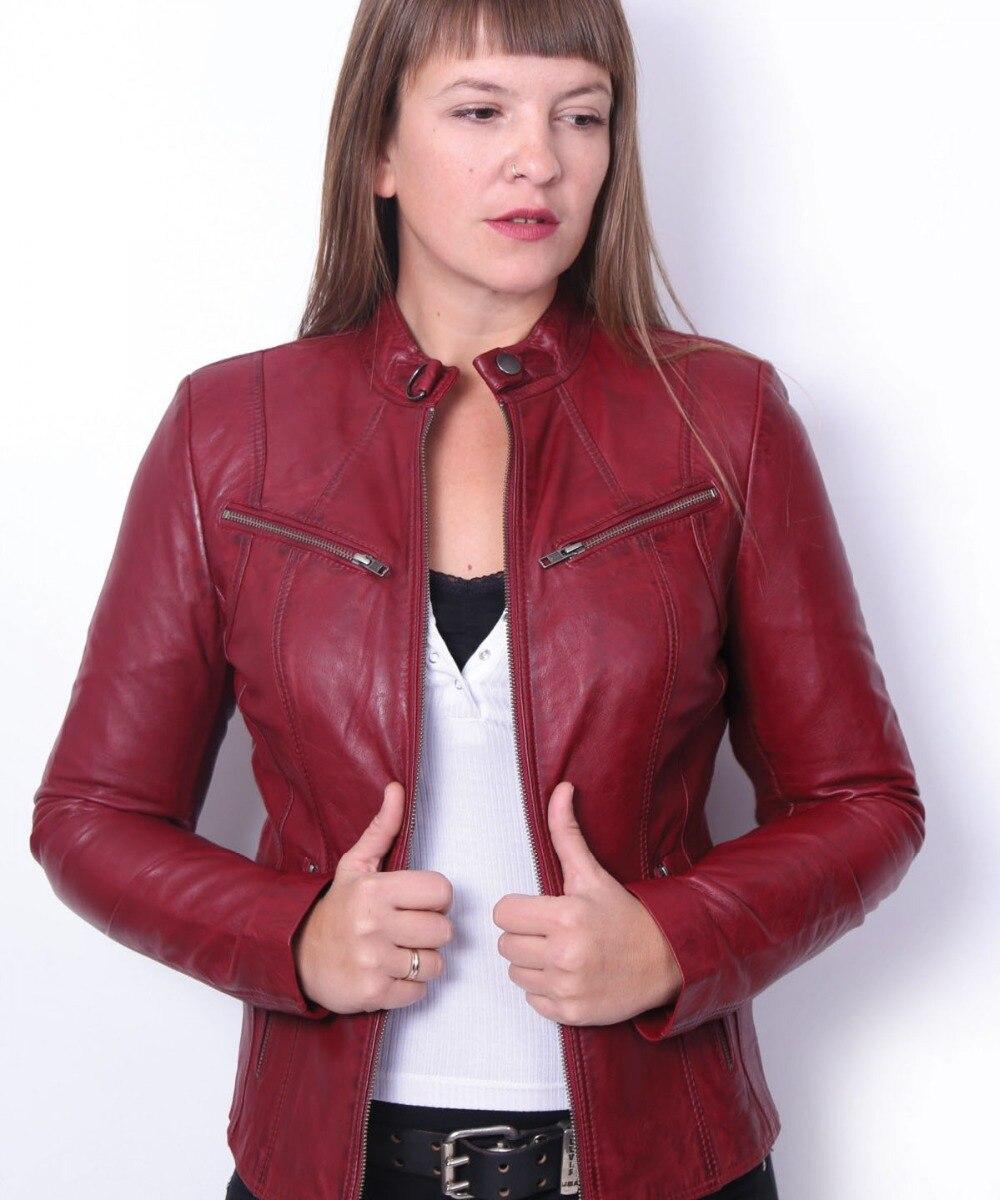 VAINAS Brand Zeta High Quality Women Genuine Leather Jacket For Women Real Leather Jacket Motorcycle Jackets Biker Jackets