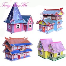 3D Diy Girl toys  Building Puzzle Wooden Little House Model Of  Three-dimensional Toys Gifts