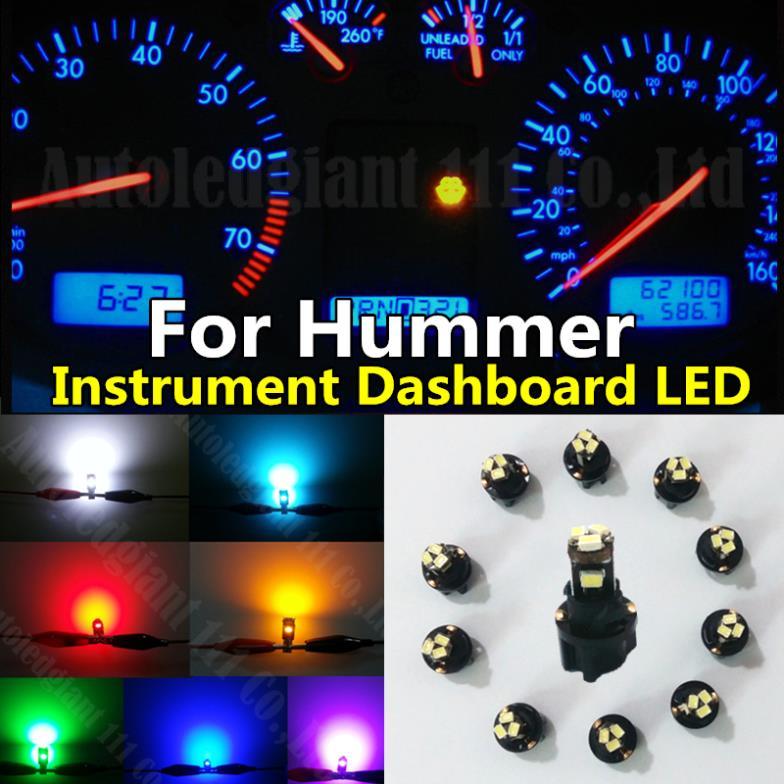 Partsam T5 73 74 Error Free Speedometer Indicator LED Light Kit Instrument Panel Gauge Cluster Dashboard LED Light Bulbs Canbus//Blue 10Pcs