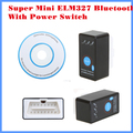 [10pcs/Lot] DHL Free shipping New Arrival Diagnostic Tool code reader  Super mini ELM327 Bluetooth with power switch
