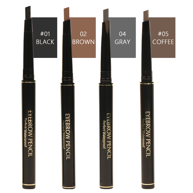MIXDAIR 4 Colors Eyebrow Pencil Natural Waterproof Long Lasting Paint Tattoo Eye Brow Pen Eye Makeup Cosmetic 3