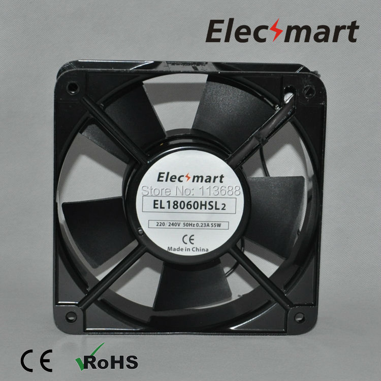 AC220V 180mm*180mm*60mm 2 Pin Connector Cooling Fan for Computer Case CPU Cooler Radiator