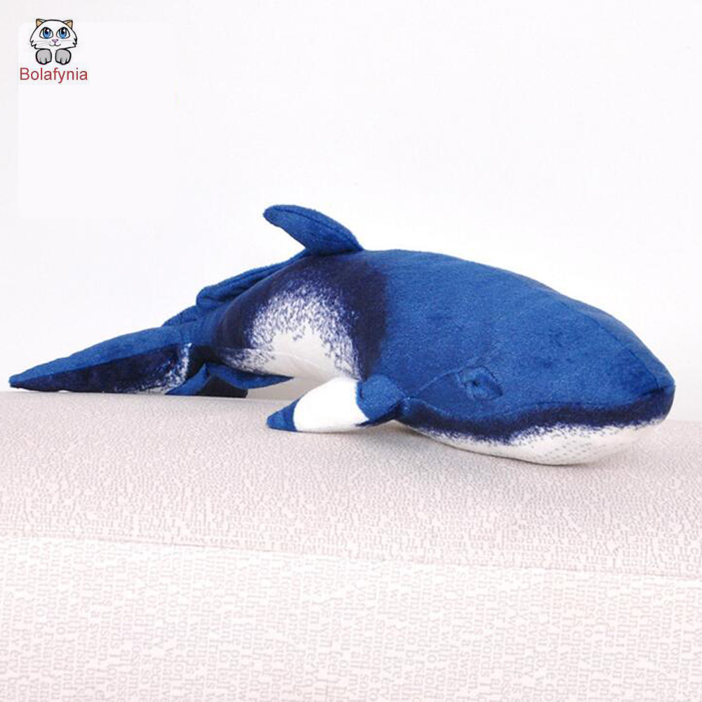BOLAFYNIA Whale simulation Children plush stuffed toy baby kids for Christmas birthday gift