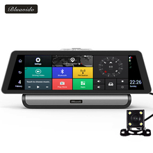 Bluavido 10 Inch 4G Android Car DVR GPS Navigation Full HD 1080P Video Camera ADAS Dual lens Camcorder Bluetooth WiFi Dashcam