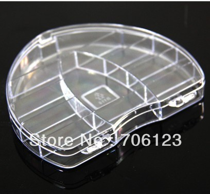 Transparent storage box heart Jewelry cases portable medicine drug boxes free shipping 25pcs