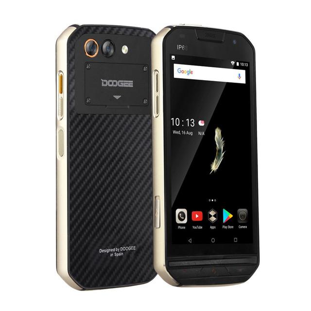 DOOGEE S30 IP68 Waterproof 2GB RAM 16GB ROM 5580mAh Side fingerprint Dual camera 5V/2A 5.0″HD Android 7.0 MTK673 LTE Smartphone