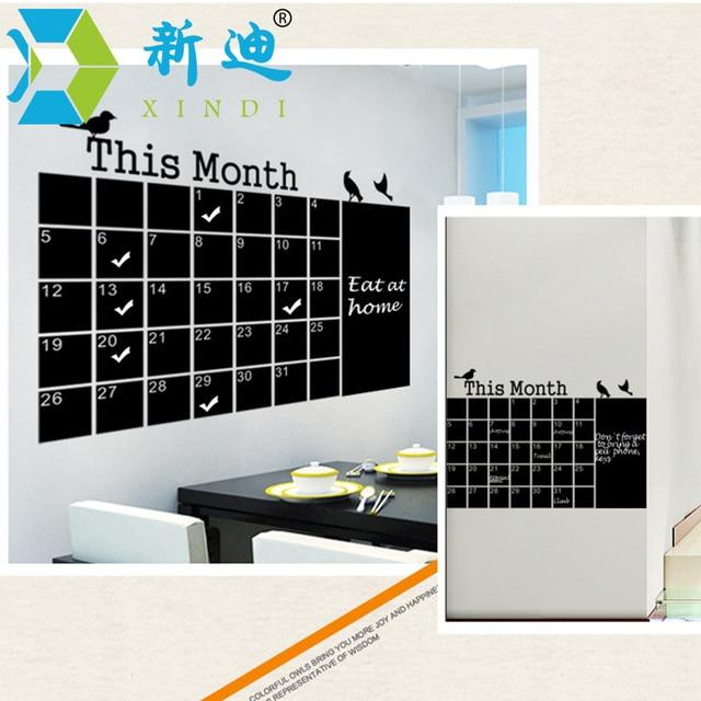 XINDI Новый 2016 Календарь Наклейки Офис Доске ПВХ Съемный Доске Месячный План Memo Доска Объявлений Бесплатная Доставка