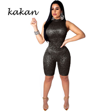 Kakan 2019 summer new womens sequins one-piece tights sexy fashion slim night jumpsuit