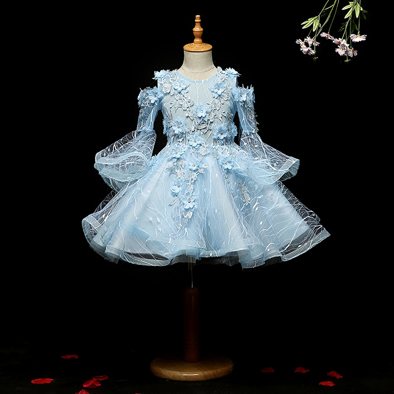 2018 winter lace flowers girls dresses children tutu princess dresses for girls baby print girl party dress kids girls clothes baby clothes winter dresses girls dress nova kids wear embroidery fashion girls frocks children clothes girl party dresses