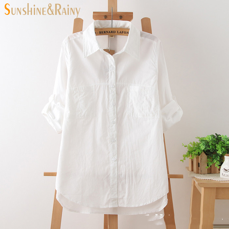 spring summer fashion women white cotton half sleeve blouse shirts summer cool white office shirts ladies shirts for business