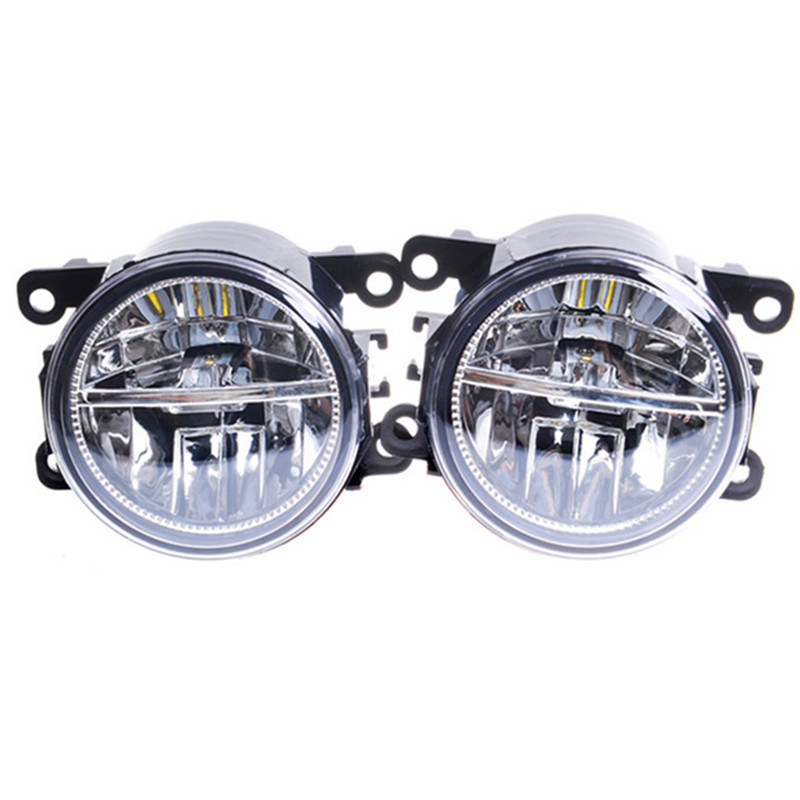 For FORD FOCUS Fusion TRANSIT Tourneo Fiesta C-Max TOURNEO GRAND C-MAX 2002-2015 Car styling LED fog lights High power Fog lamps for ford fiesta van box 2003 2015 10w high power lens set light led fog lights car styling fog lamps