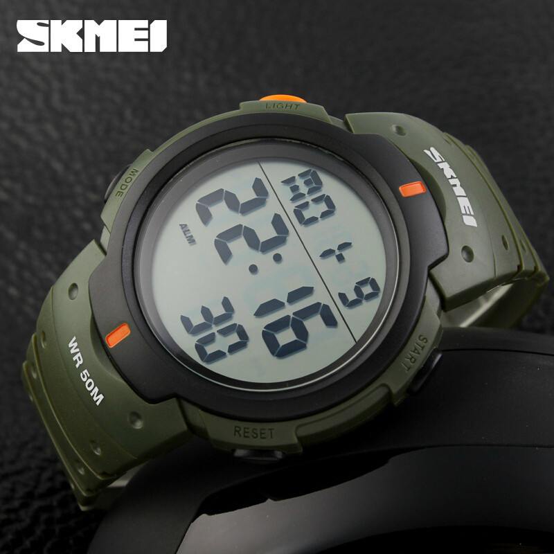 New 2016 Sports Watches Mens Clock SKMEI Brand LED Electronic Digital Watch 50ATM  Alarm Outdoor Casual Military Army Watch Hot splendid brand new boys girls students time clock electronic digital lcd wrist sport watch