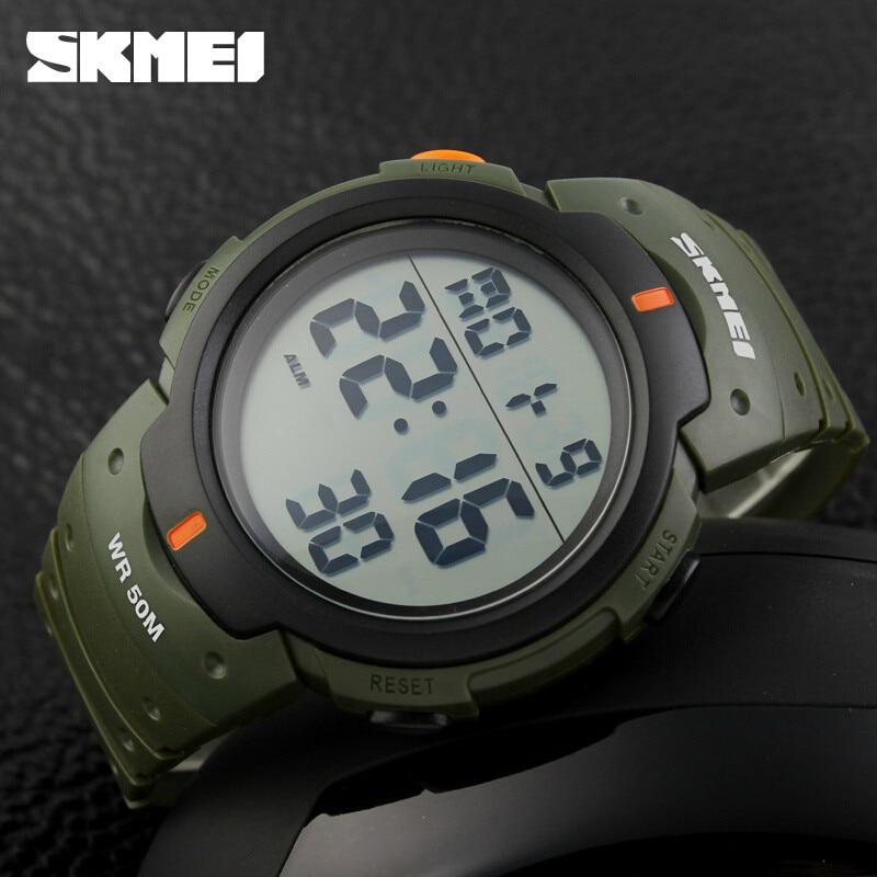 Nouveau 2016 Sport Montres Hommes Horloge SKMEI Marque LED Électronique Numérique Montre 50ATM Alarme Extérieure Casual Militaire de L'armée Montre Chaude