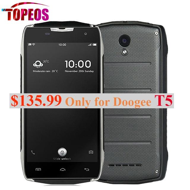Original DOOGEE T5 MTK6735 Octa Core Mobile Phone 5.0'' Android 6.0 Waterproof IP67 3GB RAM+32GB ROM 4500mAh OTG 13MP 4G LTE OTG
