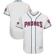 5e73d14f0c8 MLB Men s San Diego Padres Baseball White 2017 Stars   Stripes Authentic  Collection Flex Base Team