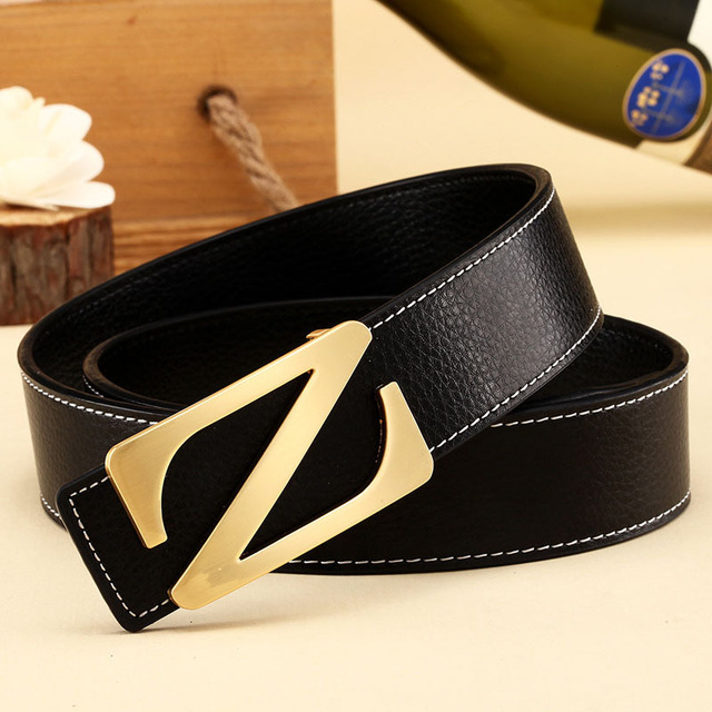 New 2017 Fashion man Brand Leather Belts Casual Smooth Buckle Women's Belts men's Belts For Men Unisex Female free shipping