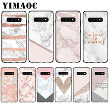 YIMAOC Granite Pink White Marble Texture Soft Case for Samsung Galaxy S10 Plus S10e S6 S7 Edge S8 S9 Plus J6 M10 M20 M30 наушники earbud plus pink marble