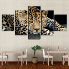 Modern Home Decor HD Prints Pictures For Living Room Poster Framework 5  Pieces Animal Leopard Tiger Paintings On Canvas Wall Art Part 92