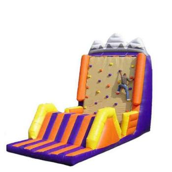 Gry sportowe na świeżym powietrzu ogromny nadmuchiwany ściana wspinaczkowa ze zjeżdżalnią dla dzieci tanie i dobre opinie XZ-CW-030 Dziecko Outdoor sports games huge inflatable climbing wall with slide for kid 0 5mmPVC L8m*W8m*H8m 110-220v Large Outdoor Inflatable Recreation