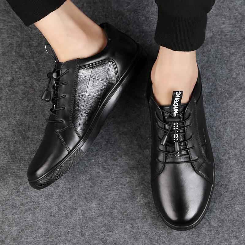 Size Moda Qualidade De Sapatos Casual Black Do Sneakers Couro Alta Respirável Elástico Genuíno 37 45 Skate Trainer Plus d6XPwWxB