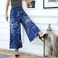 high waist culottes pants horn wide leg pants pants dance  tenths pants female trousers Belly Dance Casual Boho Wide Trousers