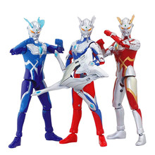 18cm Universal superman toy set the Ultraman ZERO doll joint movable gomorra monster combination ultraman