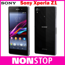 Abierto original Sony Xperia Z1 L39H C6903 teléfono móvil 16 GB Quad core 3 G y 4 G GSM WIFI GPS 5.0 '' 20.7MP teléfono celular