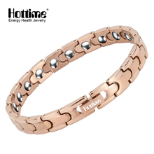 Hottime Bio Magnetic Health Care Bracelet Full 99.99% Germanium Bracelet For Women's Fashion Stainless Steel Bracelets & Bangles