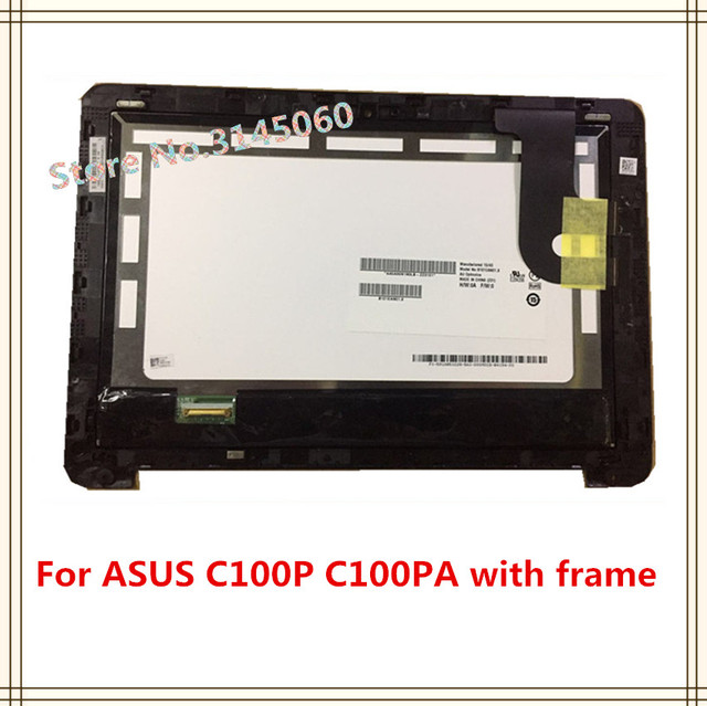 10.1 inch LCD Display Touch Screen Assembly & Frame For ASUS C100P ...