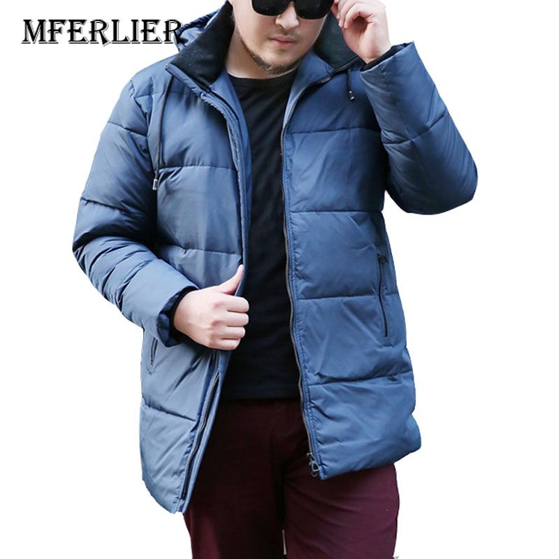 2018 Herbst Winter Männer Unten Jacken 5xl 6xl 7xl 8xl 9xl 10xl Gewicht 155 Kg Große Größe Langarm Halten Warme Plus Größe Männer Mantel