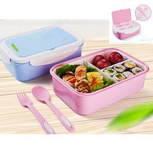 Portable Microwave Lunch Box With Spoon Fork Cooler Bag Large Capacity Food Container Storage Travel Picnic Lunch Dinnerware Set large capacity microwave lunch box with spoon