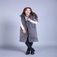 FurVestZipper отделки работы лиса шерсти теплый жилет сто процентов натуральная с капюшоном таинственный лиса пальто жилет