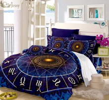 Constellation Bedding Set Galaxy Bed Cover linens Bedsheet Duvet Goat Sheep Twin Full Queen King 3PCS/4Pcs