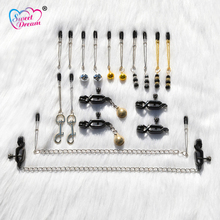 Sweet Dream 1 Pair Nipple Clamps Metal BDSM Breast Adult Game Fetish Sex Tools for Sale Sex Toys for Woman Sex Products DW-083