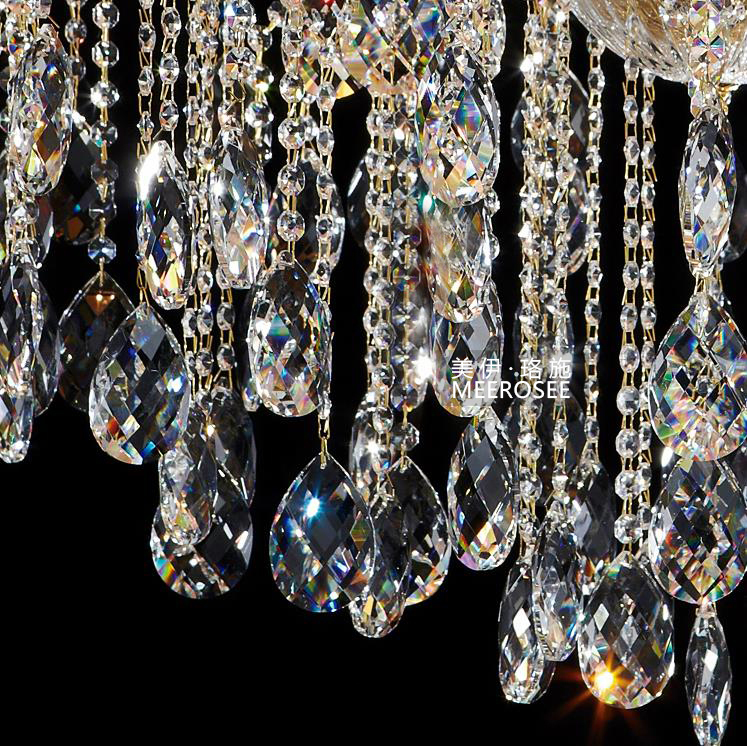 Luxurious Crystal Maria Theresa Chandelier Large Golden Clear Crystal - Indoor Lighting - Photo 2