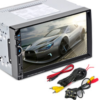 7002 Professional 7 Inch Cars Vehicles Car MP5 Player DVD Video steering wheel 2 Din With AM+RDS+ Mobile Phones Internet