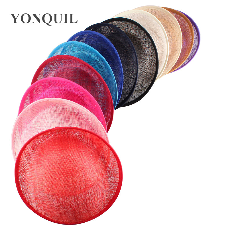25CM SINAMAY fascinator base for making fascinators kentucky party hats Millinery material cocktail hats 12pieces/lot multicolor