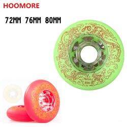 8 шт./лот 88A 89A Inline колесо для роликовых коньков 72 мм 76 80 мм слайд колёса зеленый красный, белый кристалл прочный PU прозрачный концентратор для