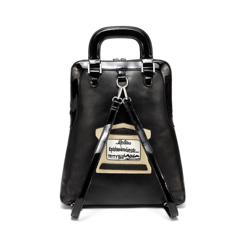 iPinee Multifunction Casual Women Bags Cartoon Design Leather Printing Shoulder Messenger Bags School Bag For Girls