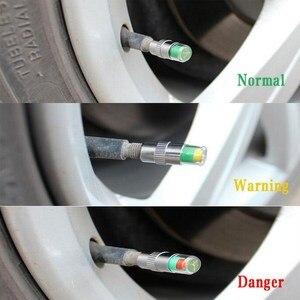 Image 5 - 4 قطعة سيارة مستشعر ضغط الإطار 2.2 2.4 2.5 بار صمام الجذعية غطاء الهواء ضغط الإطارات إنذار تنبيه ضغط الإطارات أدوات الرصد عدة