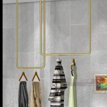Скандинавские пользовательские желтого золота потолочная подвеска магазин одежды свадебное платье магазин Висячие полюс женская одежда подвесной полюсный дисплей