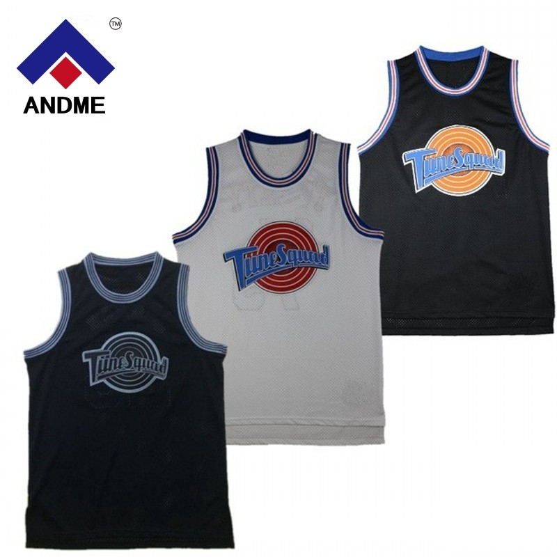 Space Jam #22 Murray #1 Bugs #! TAZ #10 Lola #2 D. ENTE #1/3 Tweety Basketball Jersey Tune Squad LOONEY TOONES Basketball Jerseys