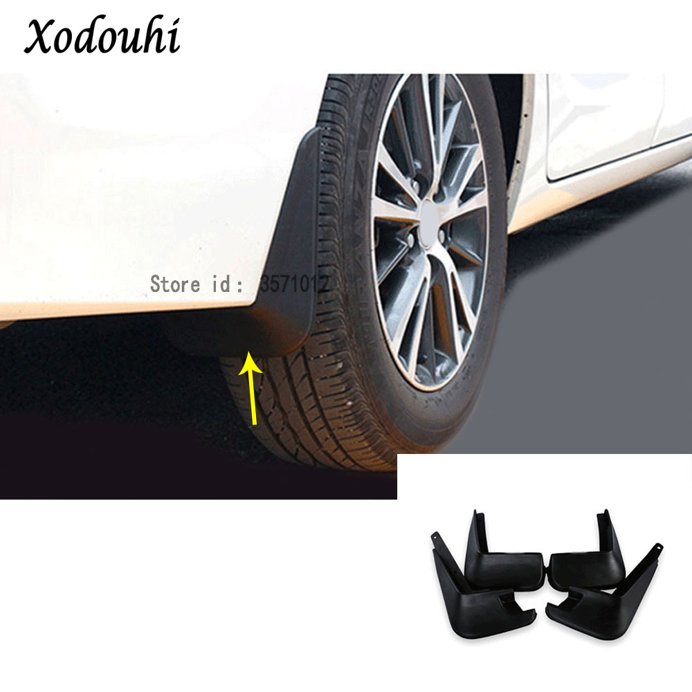 Ultra Soft Car Fender Covers: For Toyota Corolla Altis 2014 2015 2016 Car Cover Plastic