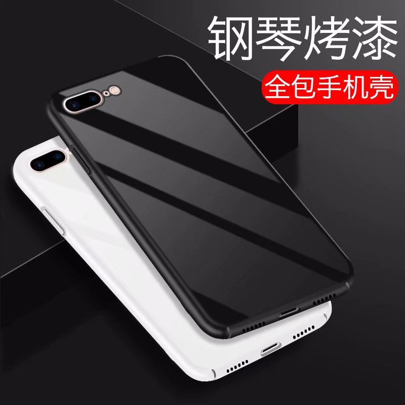 s8 s9 Luxury Case For iPhone 8 8 Plus X Phone Case Piano Baking Varnish Glossy Ultra Thin Hard PC Back Cover Phone Accessories